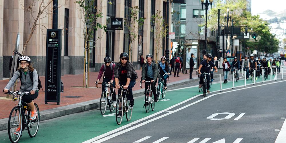 BikeToWorkGreenLanePilons