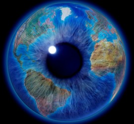 World in eye