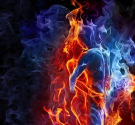 Lovers Red Blue Fires