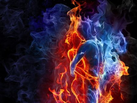 Erth Eros : Lovers Red And Blue Fires