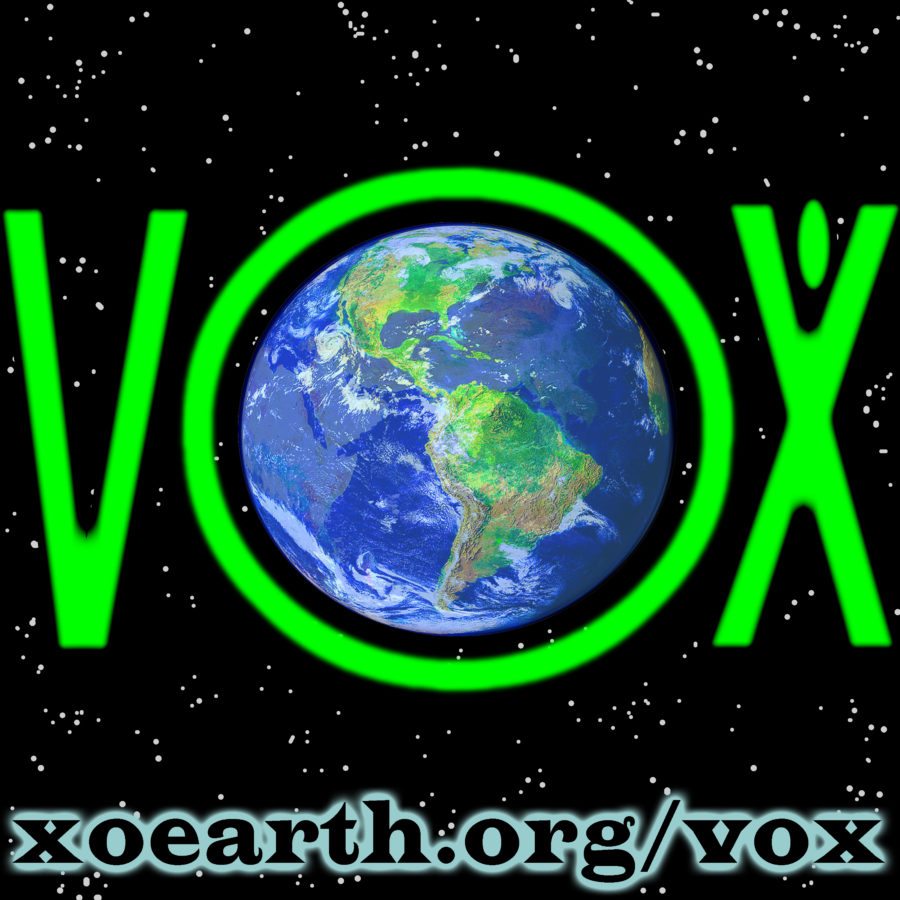 XOEarth VOX logo / earth voices and creatives unite